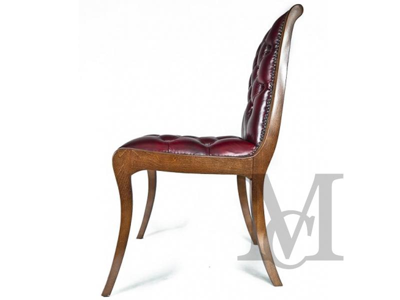 Krzesło Chesterfield 100% skóra naturalna