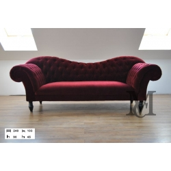 Sofa Madam Chesterfield 3-osobowa - Meble Chesterfield