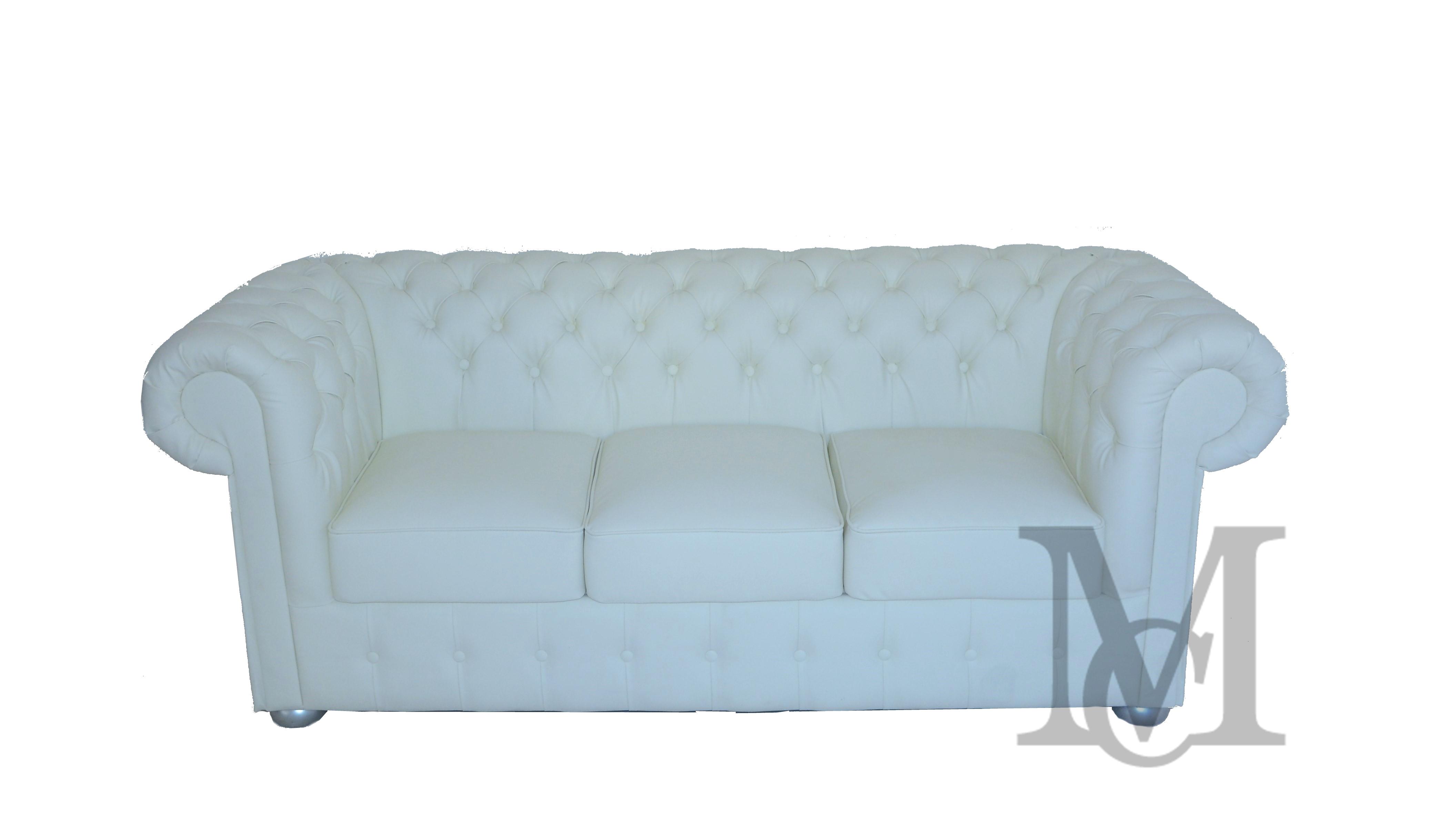 Sofa Classic Chesterfield 3 Osobowa Pluszowa Pikowana Kanapa