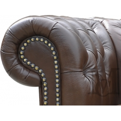 Sofa Classic Chesterfield 3-osobowa - 100% skóra naturalna